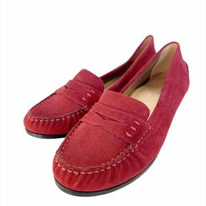 Modern Vice Monaco Red Suede Slip-On Loafers